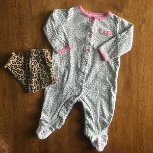 Carter's leopard outfit 6m